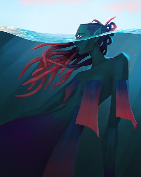 Blue Mermaid illustration